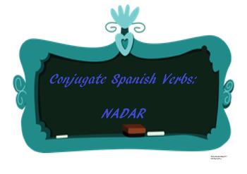 The best Spanish -AR verb conjugation worksheet NADAR