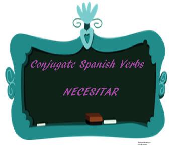 The best Spanish -AR verb conjugation worksheet NECESITAR