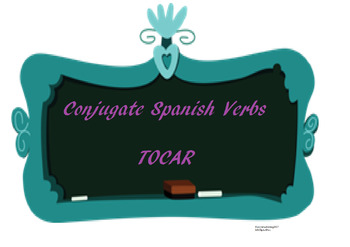 The best Spanish -AR verb conjugation worksheet TOCAR