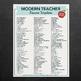 The best teacher resume word bank!