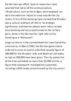 The bombing of Dresden Handout