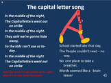 Capital letters.Humorous song in video with mp3s