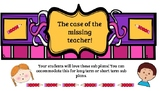 The case of the missing teacher