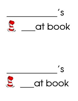 The cat and the hat rhyming book