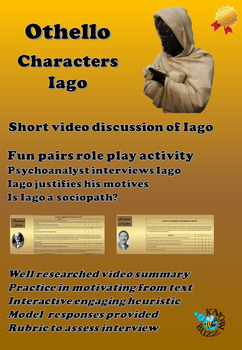 'Othello' by William Shakespeare - The character of Iago