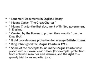 The classroom Magna Carta
