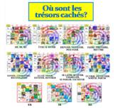Où sont les trésors cachés? (the 10 verb games bundled tog