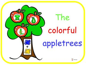 The colorful appletrees