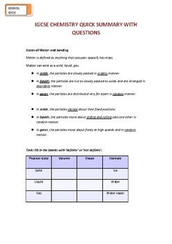 Igcse Chemistry Worksheets & Teaching Resources   TpT