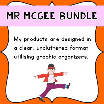 The complete series of Mr McGee texts Literacy Bundle