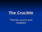 The crucible - Theme of purity