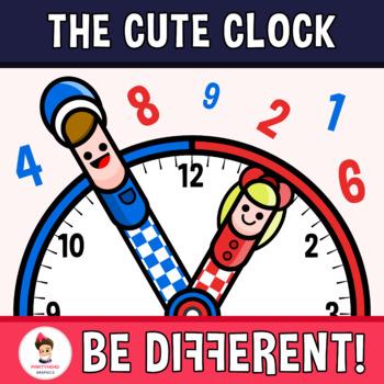The Cute Clock Clipart