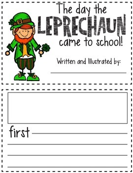 photograph relating to Printable Leprechaun Story named The working day a leprechaun arrived towards higher education printable guide