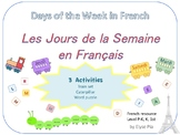 The days of the week in French / Les jours de la semaine e