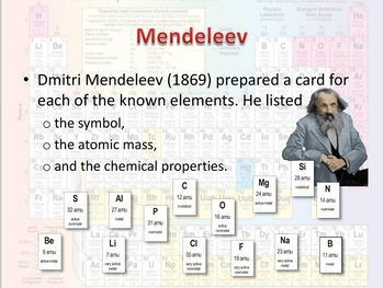 The development of the Periodic Table