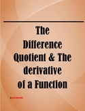 The difference quotient formula and the derivative