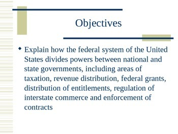 The division of power in Federalism