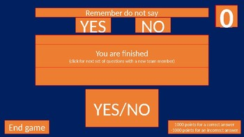 The do not say yes or no quiz