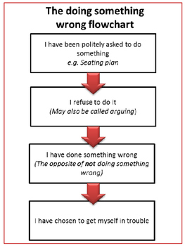 The 'doing something wrong' behaviour flow chart