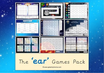 The 'ear' Phonics Games Pack