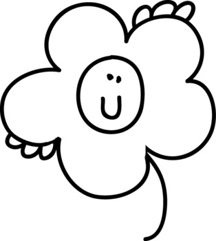 The emotions of Flowers- 8 BW/COLOUR Clipart FREEBIE