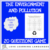 The environment - 20 questions game -  Earth Day - No prep