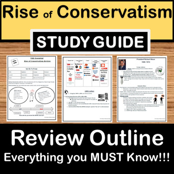 The essential Rise of Conservatism STAAR prep review - TEXAS US history