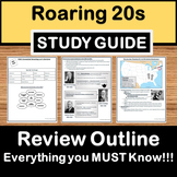 Roaring 20s Review - US History Study Guide - STAAR Test Prep EOC