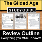 Gilded Age Study Guide - US History Review - STAAR Test Prep EOC
