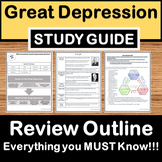 Great Depression Review- US History Study Guide - STAAR Te