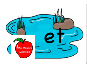 The -et Word Family Pond Game