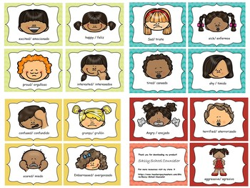 The faces of Emotion- printable cards for teaching emotion