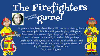 The firefighters Game!!