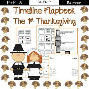 The first Thanksgiving- Timeline flapbook