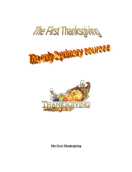 Thanksgiving primary sources and questions from the American Colonies