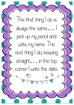 The first thing I do reminder poster