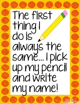 The first thing I do...wri... by Tori's Teacher Tips | Teachers ...