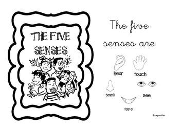 The five senses mini-book.