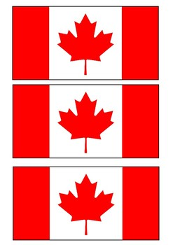 The flag of Canada Handout