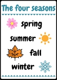 The four seasons classroom poster