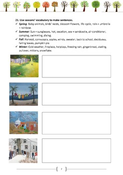 The four seasons (the printable file)