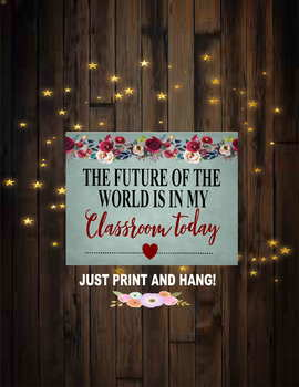 Classroom Decor Sign printable free signs room art