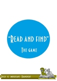 """The game """"Read and find"""""""