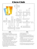 The game of chess - crossword puzzle
