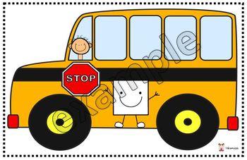 The geometric shapes school bus