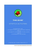 The giver - Stretch Activities