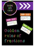 The golden rules of fractions posters