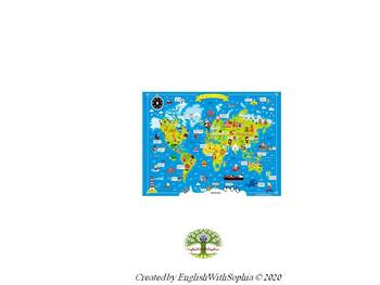 The great animal world map POSTER