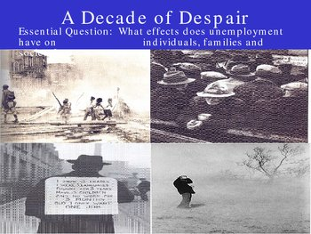 The great depression decade of despair
