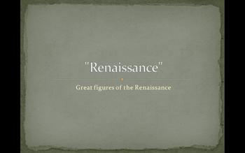 The great men of the Renaissance